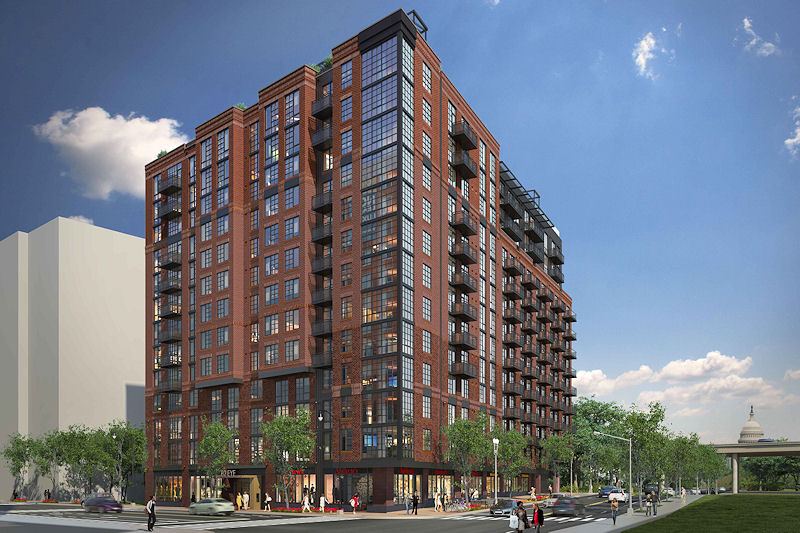 New Renderings Have Been Passed Along Today Of The Apartment Building In  The Early Stages Of Construction On The Northwest Corner Of New Jersey And  I ...