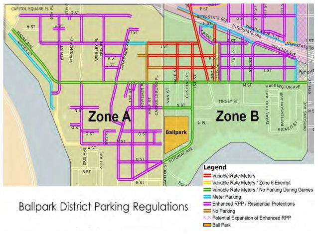 Getting to Nationals Park Parking Transit JDLandcom